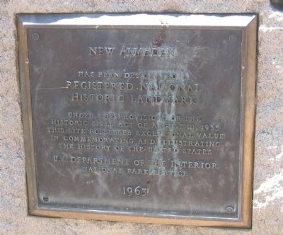 National Historical Landmark Plaque image. Click for full size.