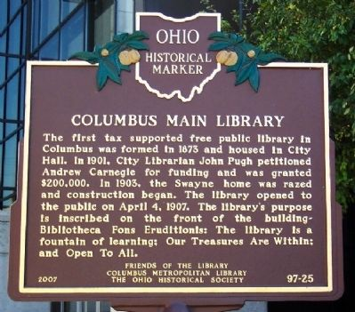 Columbus Main Library (side A) image. Click for full size.
