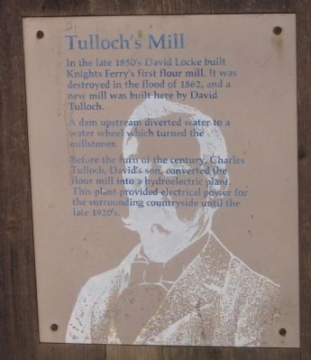 Tulloch's Mill Marker image. Click for full size.