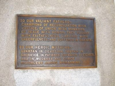 To our Valiant Fathers Monument image. Click for full size.