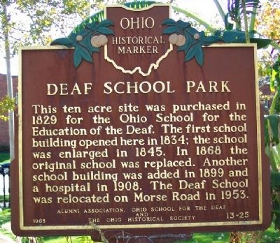 Deaf School Park Marker image. Click for full size.