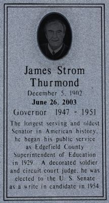 James Strom Thurmond Marker image. Click for full size.