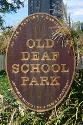 Old Deaf School Park Marker image. Click for full size.