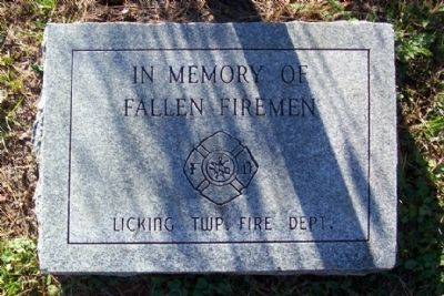 Licking Township Fallen Firemen Marker image. Click for full size.