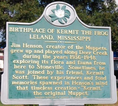 Birthplace of Kermit the Frog Marker image. Click for full size.