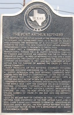The Port Arthur Refinery Marker image. Click for full size.