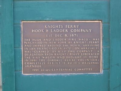 Knights Ferry Hook & Ladder Marker image. Click for full size.