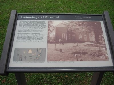 Archeology at Ellwood Marker image. Click for full size.