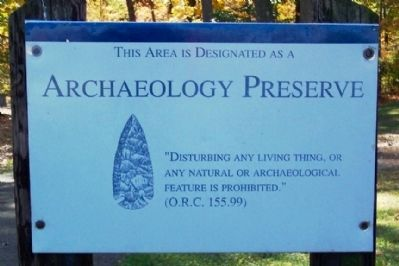 Archaeology Preserve Marker image. Click for full size.