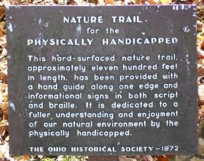 Nature Trail for the Physically Handicapped Marker image. Click for full size.