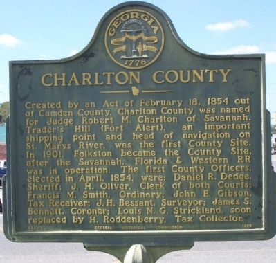 Charlton County Marker image. Click for full size.
