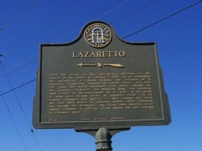 Lazaretto Marker image. Click for full size.