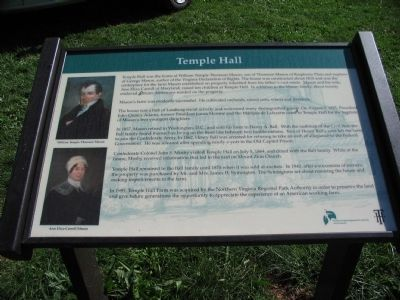Temple Hall Marker image. Click for full size.