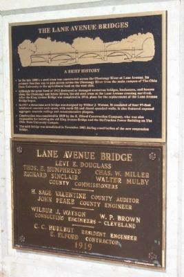 The Lane Avenue Bridge Markers image. Click for full size.