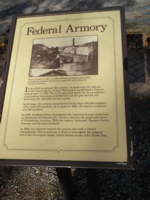 Federal Armory Marker image. Click for full size.