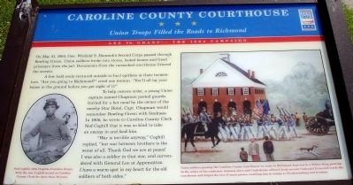 Caroline County Courthouse Marker image. Click for full size.
