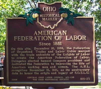 American Federation of Labor Marker image. Click for full size.