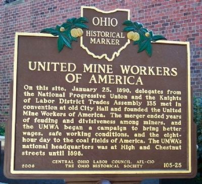 United Mine Workers of America Marker image. Click for full size.