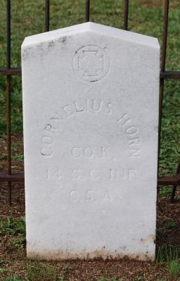 Cornelius Horn Tombstone image. Click for full size.
