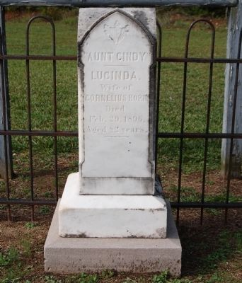Lucinda Horn Tombstone - East Side image. Click for full size.