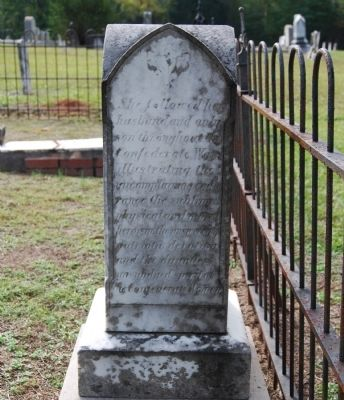 Lucinda Horn Tombstone - North Side image. Click for full size.