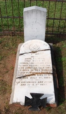 William F. Horn Tombstone image. Click for full size.