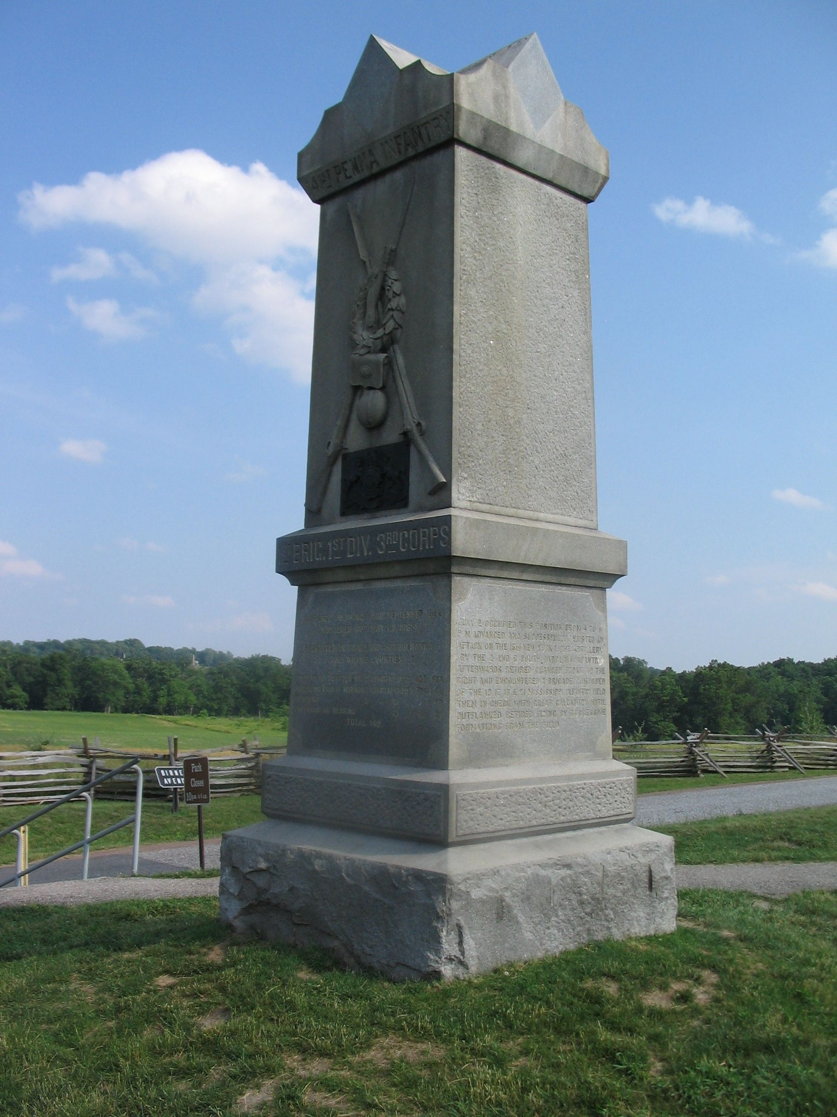 141st Pennsylvania Infantry Monument