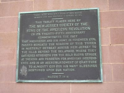 Washington Passed Beneath this Tower Marker image. Click for full size.