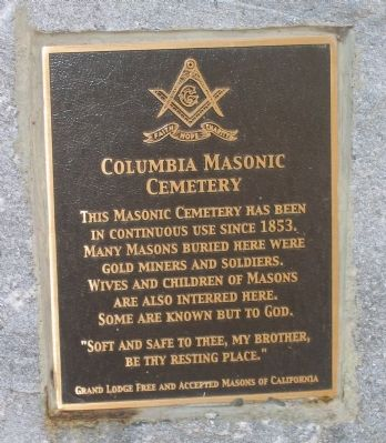 Columbia Masonic Cemetery Marker image. Click for full size.