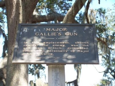 Major Gallie's Gun Marker image. Click for full size.