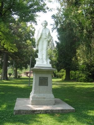 Mark Twain Statue and Marker image. Click for full size.