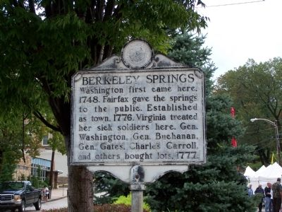 Berkeley Springs Marker image. Click for full size.
