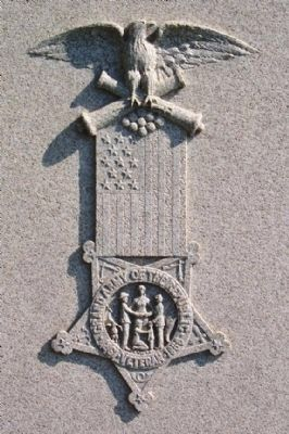 Civil War Union Soldiers Memorial G.A.R. Emblem image. Click for full size.