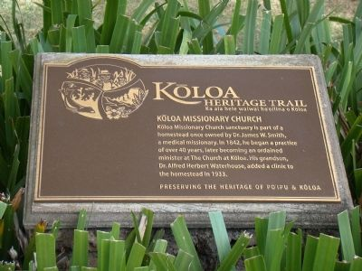 Kōloa Missionary Church Marker image. Click for full size.