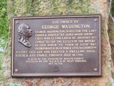 Lot owned by George Washington Marker image. Click for full size.