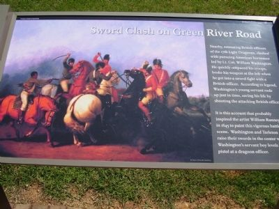 Soword Clash on Green River Road Marker image. Click for full size.