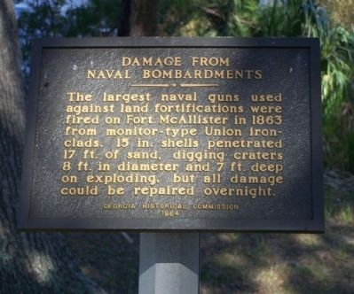 Damage From Naval Bombardments Marker image. Click for full size.