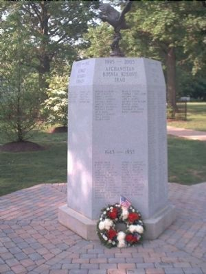 Rumson Veterans Monument </b>(1995 - 2005 face) image. Click for full size.