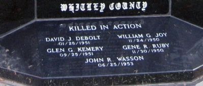Base - - Whitley County Korean War Memorial Marker image. Click for full size.