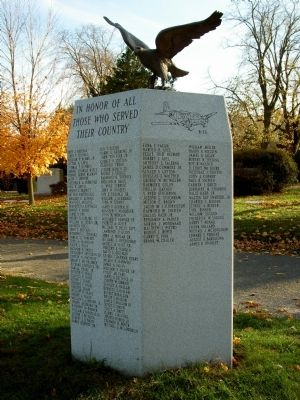Fairview Cemetery Veterans Monument Marker image. Click for full size.