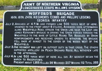Wofford's Brigade Tablet image. Click for full size.