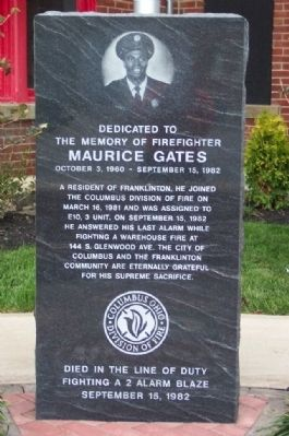 Maurice Gates Memorial image. Click for full size.