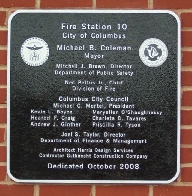 Fire Station No. 10 Addition Marker image. Click for full size.