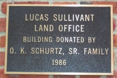 Lucas Sullivant Land Office Marker image. Click for full size.