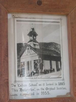 Photo Displayed on the Wall Across from the Marker image. Click for full size.
