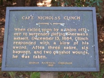 Capt. Nicholas Clinch Marker image. Click for full size.