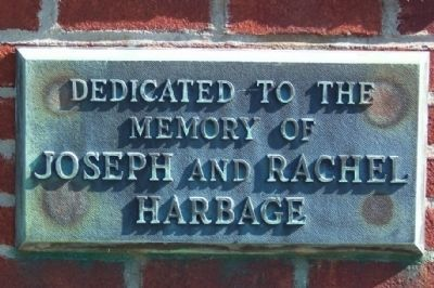 Joseph and Rachel Harbage Marker image. Click for full size.