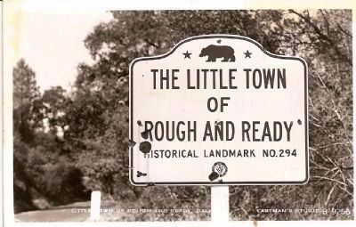 Little Town of Rough and Ready image. Click for full size.