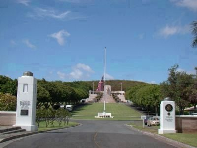 Entrance to the National Memorial Cemetery of the Pacific image. Click for full size.
