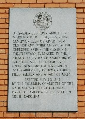 At Old Saluda Town... Marker image. Click for full size.
